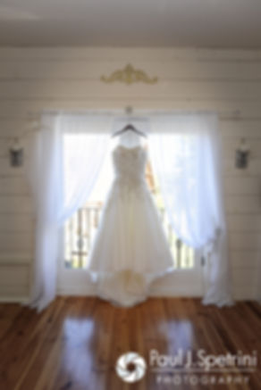 A look at Brooke's dress prior to her October 2016 wedding ceremony at The Farm at SummitWynds in Jefferson, Massachusetts.