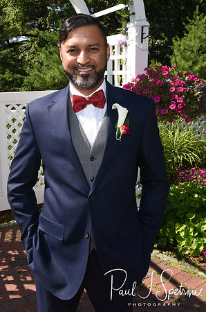 Jimmy smiles for a photo prior to his July 2018 wedding ceremony at Lake Pearl in Wrentham, Massachusetts.