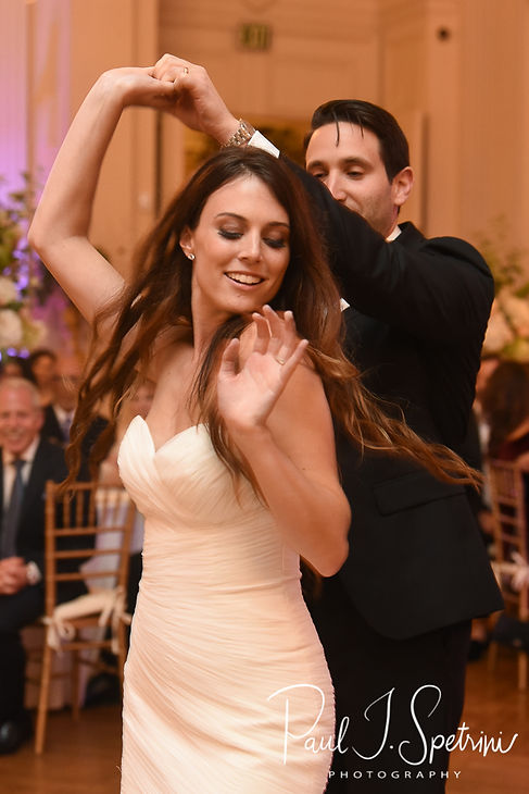 Helen & Mike have their first dance during their September 2018 wedding reception at the Rosecliff Mansion in Newport, Rhode Island.
