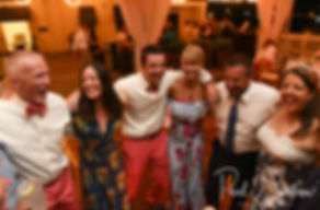 Mike and Kate party with guests during their May 2018 wedding reception at Regatta Place in Newport, Rhode Island.