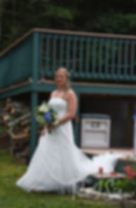 Kim walks down the aisle during her September 2018 wedding ceremony at their home in Coventry, Rhode Island.
