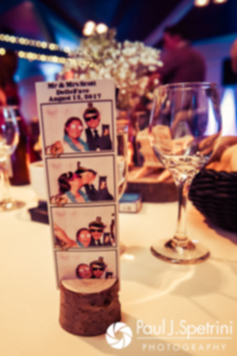 A look at Toni and Scott's photo booth photos, on display during their August 2017 wedding reception at Crystal Lake Golf Club in Mapleville, Rhode Island.