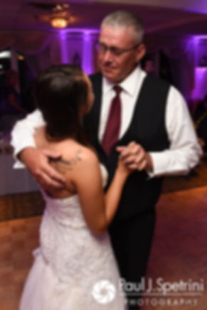 Stacey and her father dance during her September 2017 wedding reception in Warren, Rhode Island.