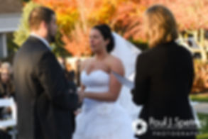 Kelly says her vows during her November 2016 wedding ceremony at the Bay Pointe Club in Buzzards Bay, Massachusetts.