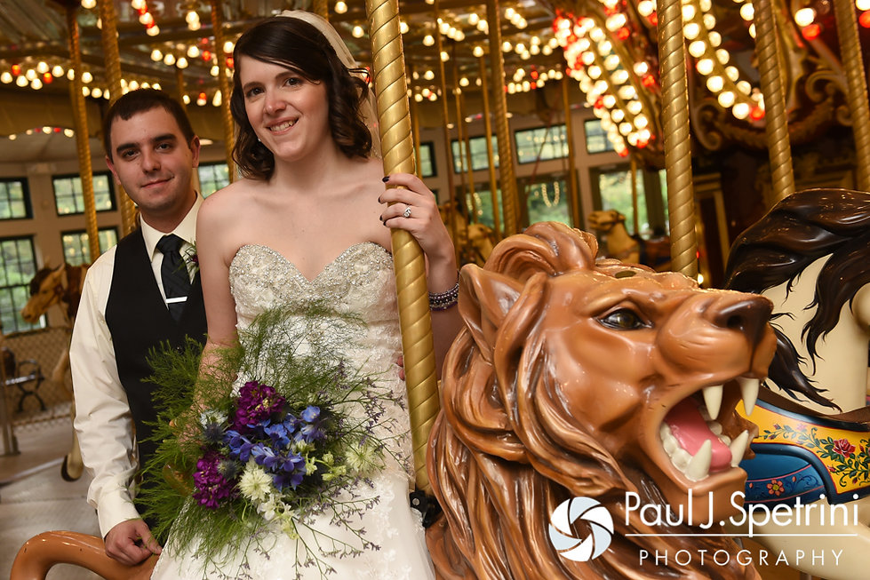 Jen and Kyle pose for a formal photo following their September 2016 wedding at the Roger Williams Park Botanical Center in Providence, Rhode Island.