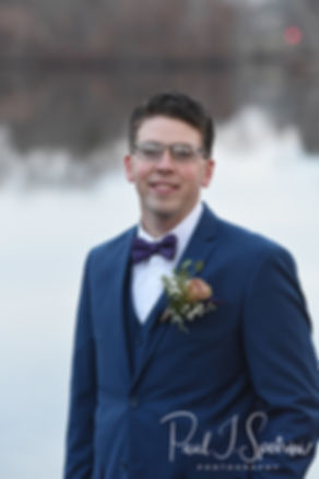 Mack poses for a formal photo at Roger Williams Park in Providence, Rhode Island prior to his December 2018 wedding reception at Independence Harbor in Assonet, Massachusetts.