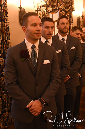 Kurt watches Nicole walk down the aisle during his November 2018 wedding ceremony at the Publick House Historic Inn in Sturbridge, Massachusetts.