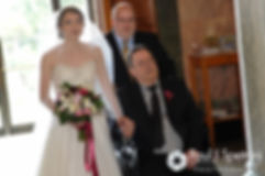 Simonne walks down the aisle during her June 2016 wedding in Providence, Rhode Island.