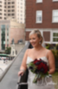 Meghan poses for a bridal portrait at the Biltmore in Providence, Rhode Island prior to her September 2018 wedding ceremony at Immaculate Conception Church in Cranston, Rhode Island.