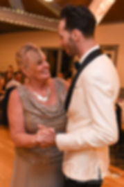 Joe and his mother dance during his May 2018 wedding reception at Crystal Lake Golf Club in Mapleville, Rhode Island.