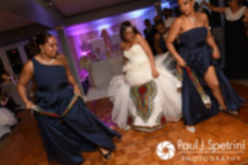 Lucelene dances during her June 2017 wedding reception at Al's Waterfront Restaurant in East Providence, Rhode Island.