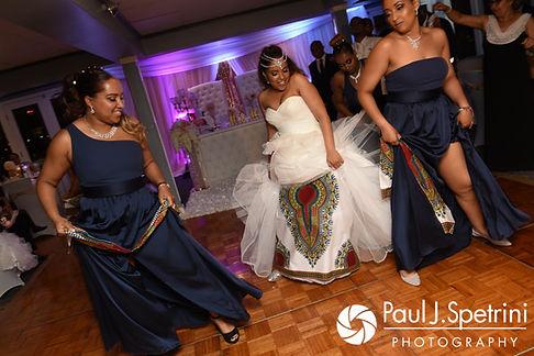 Lucelene dances during her June 2017 wedding reception at Al's Waterfront Restaurant in East Providence, Rhode Island.