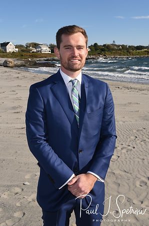 David smiles for a photo prior to his October 2018 wedding ceremony at Castle Hill Inn in Newport, Rhode Island.