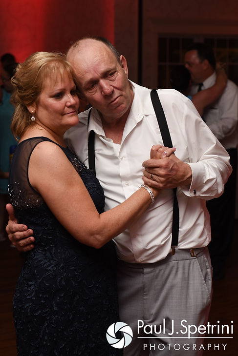 Michelle's parents dance during her May 2016 wedding at Hillside Country Club in Rehoboth, Massachusetts.