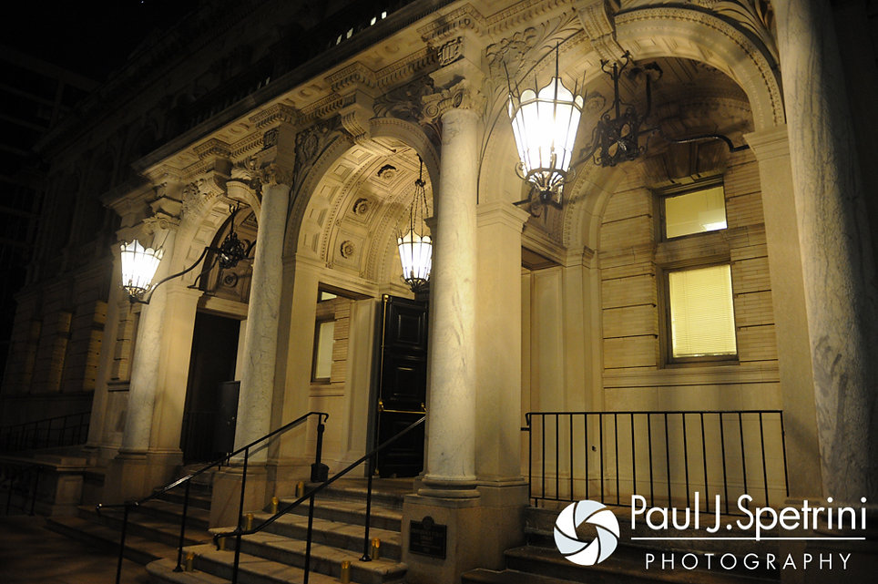 A look at the Providence Public Library during Dan and Simonne's June 2016 wedding in Providence, Rhode Island.
