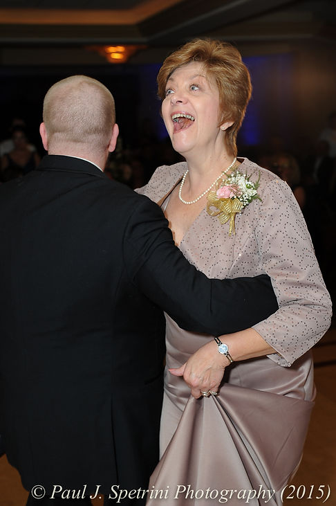 Adam and his mom dance at his fall wedding at Quidnessett Country Club in North Kingstown, Rhode Island on October 23rd, 2015.