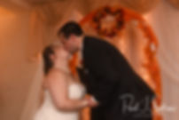 Chris and Stephanni kiss during their October 2018 wedding reception at Rachel's Lakeside in Dartmouth, Massachusetts.
