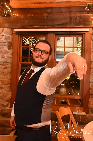 Rob shows off his ring during his October 2018 wedding reception at The Towers in Narragansett, Rhode Island.