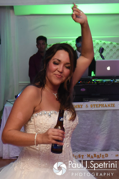 Stephanie's mother dances during Stephanie and Henry's October 2016 wedding reception at Lake Pearl Luciano's in Wrentham, Massachusetts.