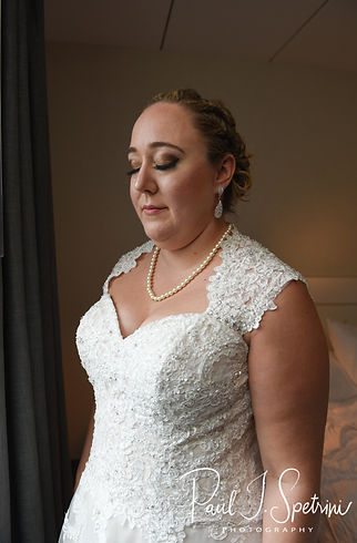 Courtney takes a moment to breath prior to her September 2018 wedding ceremony at St. Paul Church in Cranston, Rhode Island.