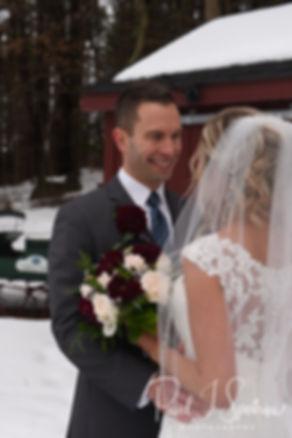 Nicole & Kurt pose for a formal photo prior to their November 2018 wedding ceremony at the Publick House Historic Inn in Sturbridge, Massachusetts.