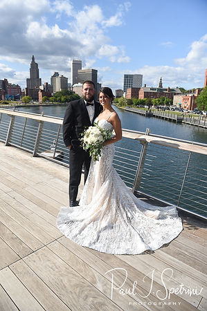 Providence River Pedestrian Bridge Wedding Photography, Bride and Groom Formal Photos
