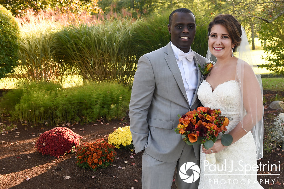 Kristina and Kevin pose for a formal photo following their October 2017 wedding ceremony at the Villa Ridder Country Club in East Bridgewater, Massachusetts.