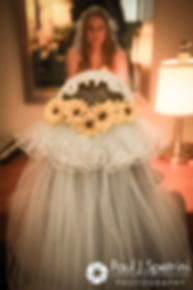 Kristin looks in the mirror prior to her October 2016 wedding ceremony at Exeter Congregational Church in Exeter, New Hampshire.