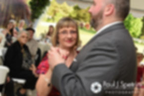 Justin dances with his mother at his May 2016 wedding reception at Country Gardens in Rehoboth, Massachusetts.
