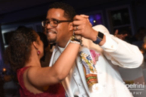 Luis dances with a guest during his June 2017 wedding reception at Al's Waterfront Restaurant in East Providence, Rhode Island.