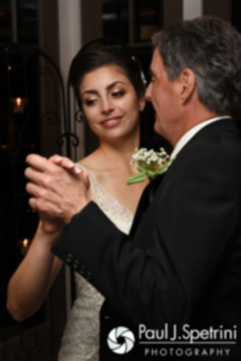 Gina dances with her father during her December 2016 wedding reception at the Waterman Grille in Providence, Rhode Island.