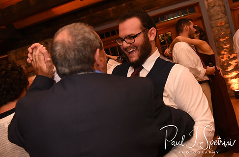 Rob dances with a guest during his October 2018 wedding reception at The Towers in Narragansett, Rhode Island.