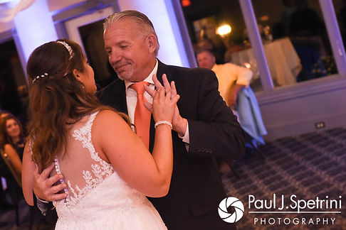 Toni and her father dance during her August 2017 wedding reception at Crystal Lake Golf Club in Mapleville, Rhode Island.