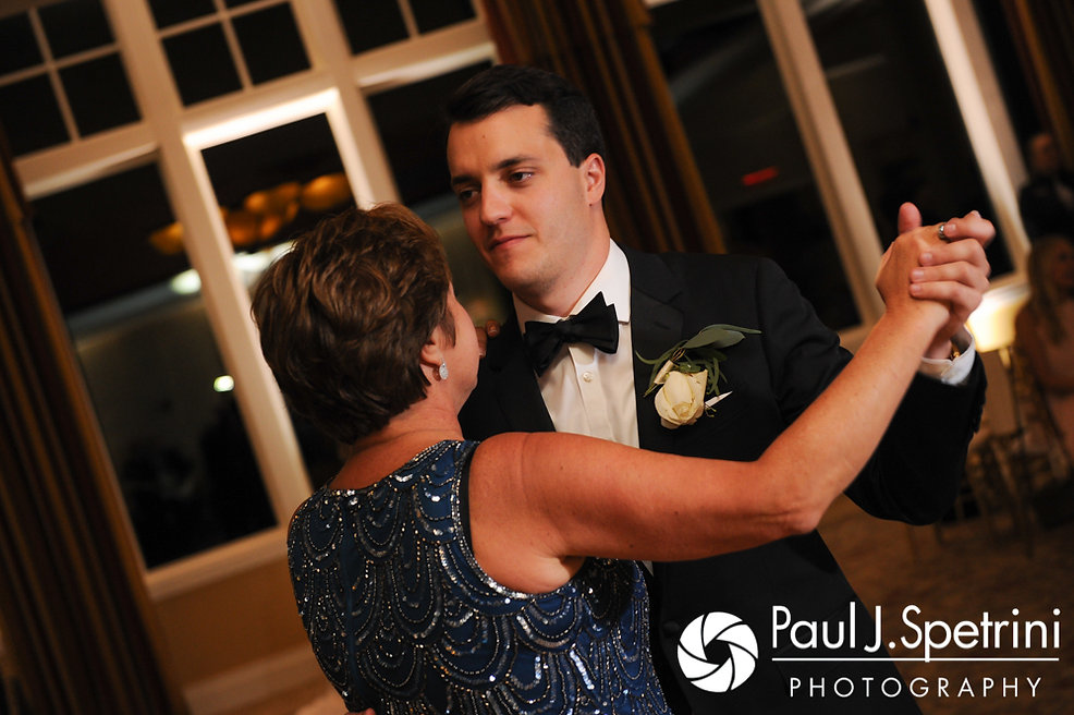 Laki and his mother dance during his September 2017 wedding reception at Lake of Isles Golf Club in North Stonington, Connecticut.