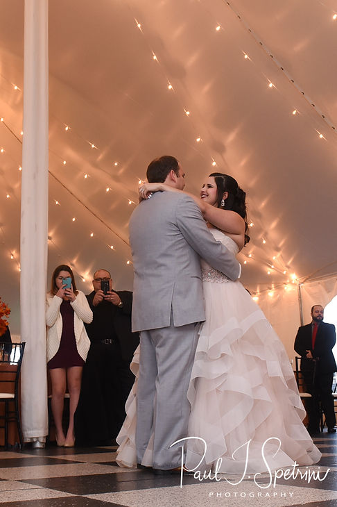 Rich & Makayla dance during their October 2018 wedding reception at Zukas Hilltop Barn in Spencer, Massachusetts.