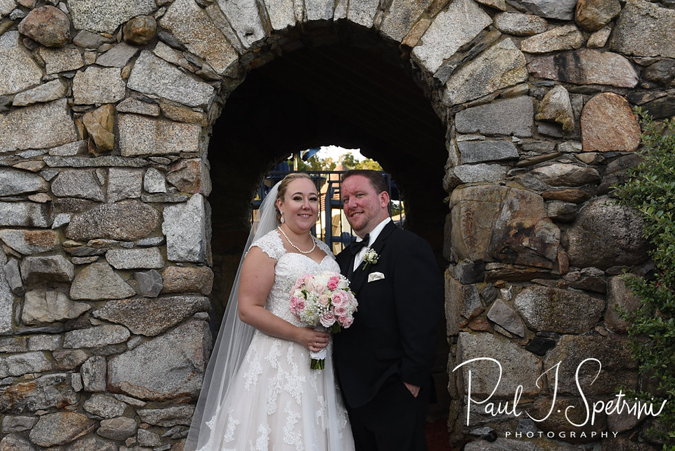 Patrick & Courtney pose for a formal photo during their September 2018 wedding reception at Valley Country Club in Warwick, Rhode Island.