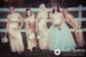 Brooke poses for a photo with her bridesmaids prior to her October 2016 wedding reception at The Farm at SummitWynds in Jefferson, Massachusetts.