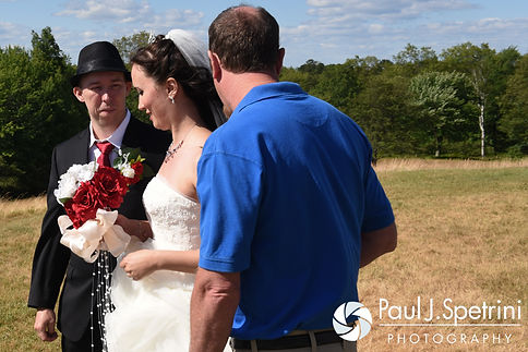 Chris and Amanda begin their summer wedding at the Quabbin Reservoir Observation Tower in Belchertown, Massachusetts on July 2nd, 2016.