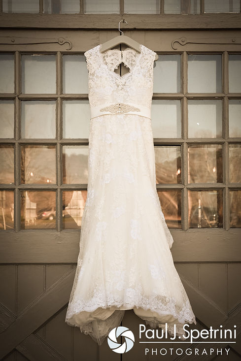 A look at Crystal's wedding dress prior to her November 2016 wedding ceremony at the Salem Cross Inn in West Brookfield, Massachusetts.