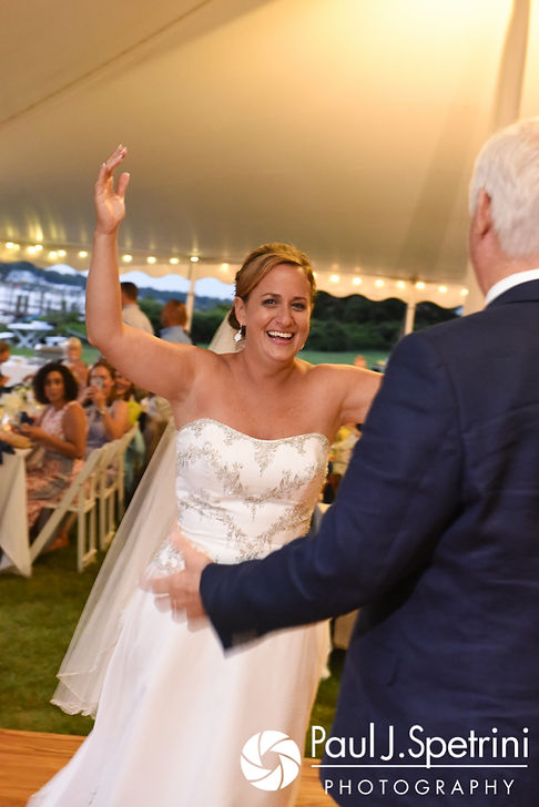 Rebecca dances with her father during her August 2017 wedding reception in Warwick, Rhode Island.