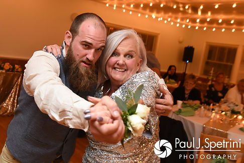 Gary and his mother dance during his September 2017 wedding reception at North Beach Club House in Narragansett, Rhode Island.