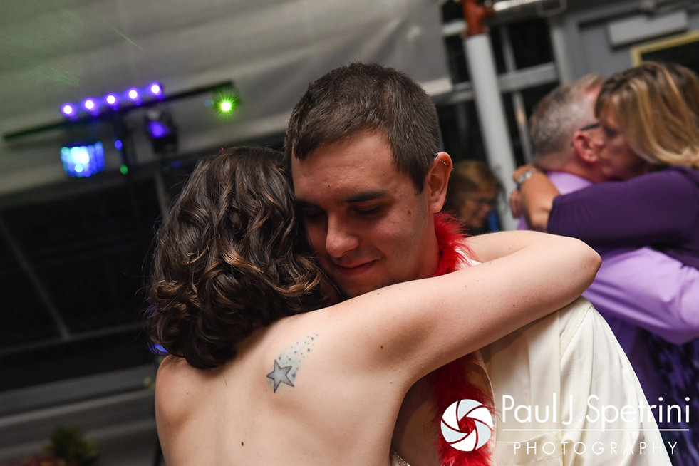Jen and Kyle dance during their September 2016 wedding reception at the Roger Williams Park Botanical Center in Providence, Rhode Island.