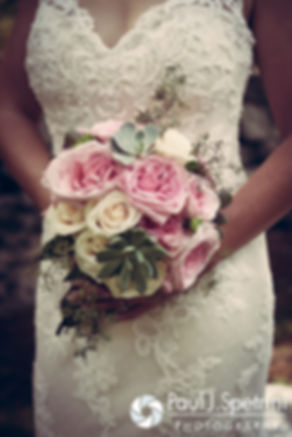 A look at Kim's flowers prior to her August 2016 wedding at Whispering Pines Conference Center in West Greenwich, Rhode Island.