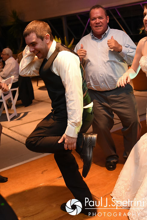 Kyle dances during his September 2016 wedding reception at the Roger Williams Park Botanical Center in Providence, Rhode Island.