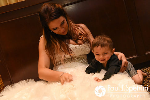 Nicky shares a moment with her son during her September 2017 wedding reception at the Crowne Plaza Hotel in Warwick, Rhode Island.