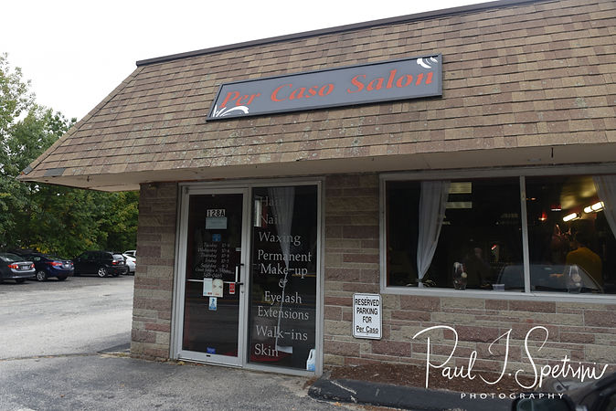 A look at the Per Caso Salon, site of Allie's hair and makeup appointment prior to her October 2018 wedding ceremony at South Ferry Church in Narragansett, Rhode Island.