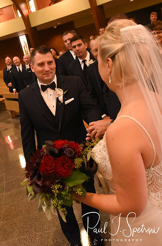 Brian smiles during his September 2018 wedding ceremony at Immaculate Conception Church in Cranston, Rhode Island.