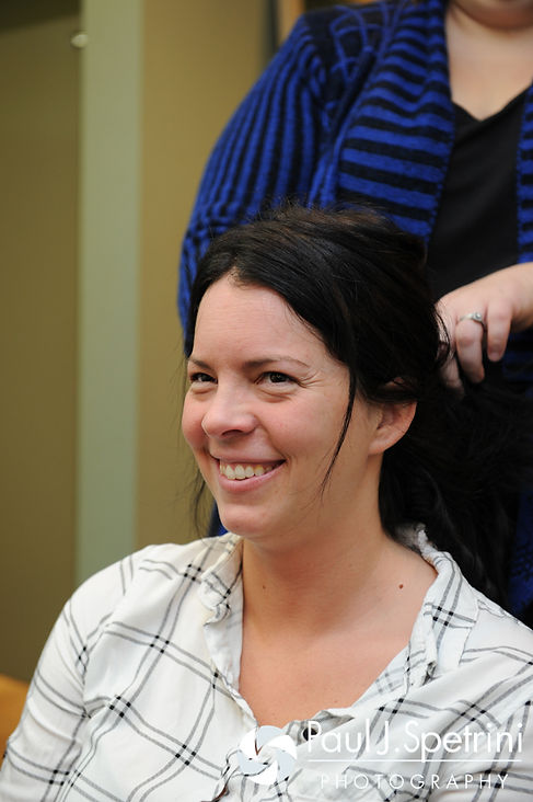 Kelly has her hair done prior to her November 2016 wedding ceremony at the Bay Pointe Club in Buzzards Bay, Massachusetts.