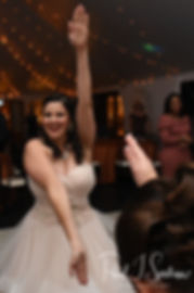 "Makayla dances to ""Baby Shark"" during her October 2018 wedding wedding reception at Zukas Hilltop Barn in Spencer, Massachusetts."
