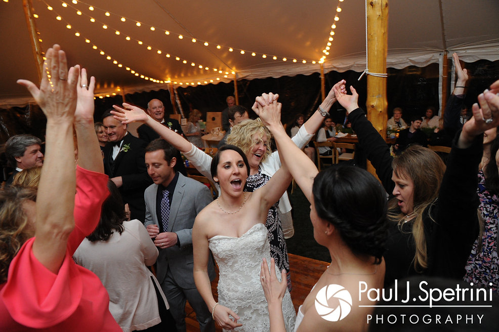 Caroline dances during her April wedding reception at the Fort Adams Trust in Newport, Rhode Island.